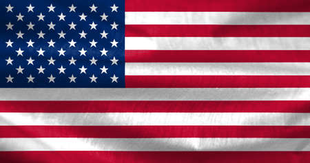wrinkle: Illustration of USA flag with wrinkle and shadow