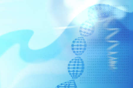purine: Abstract medical background with DNA helix concept, genetic code and chemical structure Stock Photo