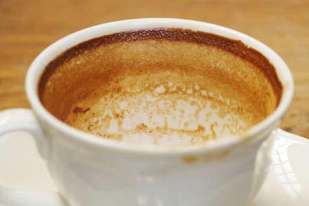 Kaffeefleck auf weißen Kaffeetasse, abstrakte Kaffee Hintergrund