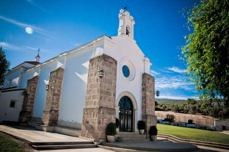 contryside: contryside church in extremadura, united kingdom