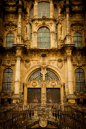 jacob: santiago de compostela in galicia, with its imposing cathedral