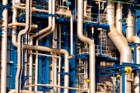 Industrial pipelines and ducts in a modern industry Stock Photo - 11688718