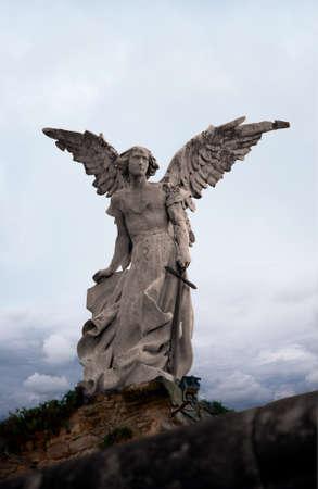 Anioł destruktora z cmentarza Comillas, Kantabria