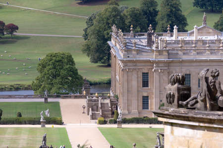 Chatsworth House Aerial View Banque d'images - 125068758