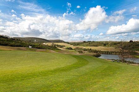 La Alcaidesa Golf and Links in the South of Spain Archivio Fotografico - 125070306
