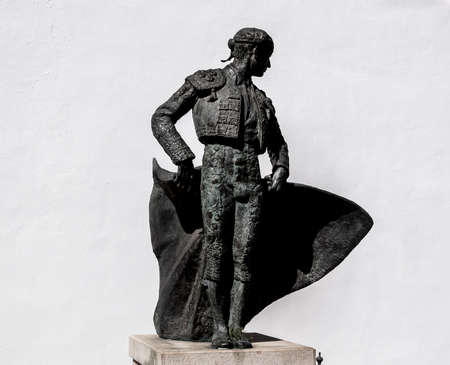 Bull Monument at Ronda, Spain Standard-Bild