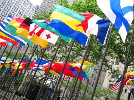 Vlaggen buiten Rockefeller Center