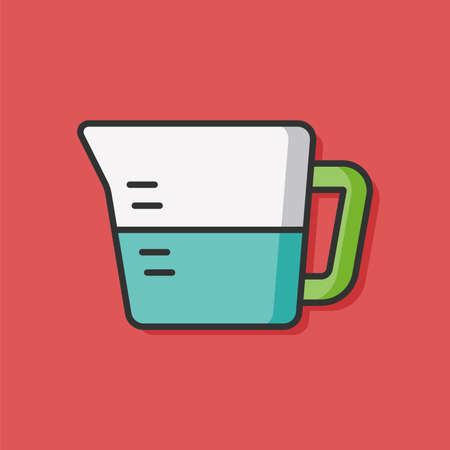 measuring: Measuring cup icon Illustration