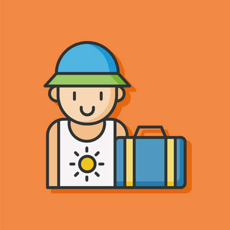 the passenger: passenger color line icon Illustration