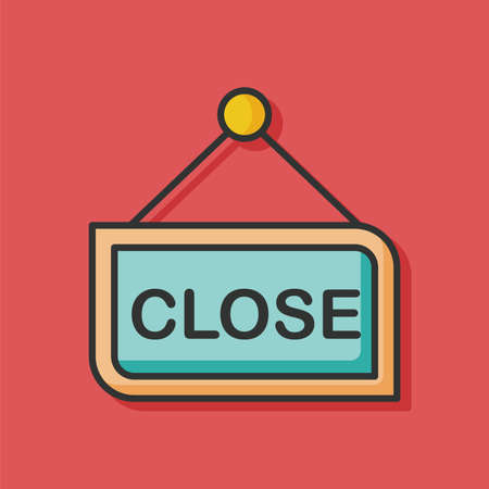 close sign color line icon Illustration