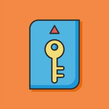 room card: room card color line icon Illustration