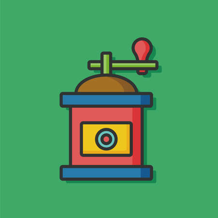 coffee grind maker color line icon