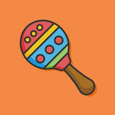 sonaja: Icono de sonajero bebé Vectores