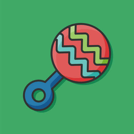 rattle: Baby rattle icon Illustration