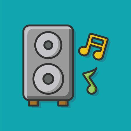 equipo de sonido: icono del altavoz est�reo Vectores