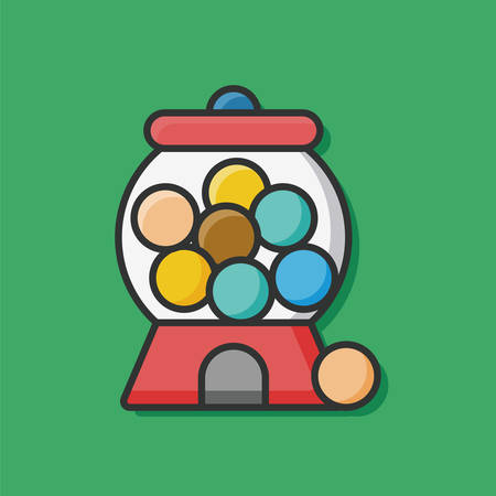 bubble gum: bubble gum machine icon Illustration