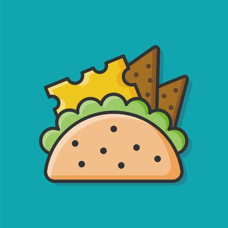 bocadillo: Icono Sandwich