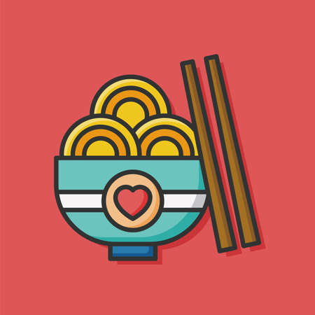 noodle: noodle icon Illustration