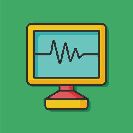 medical heart: ECG icon Illustration