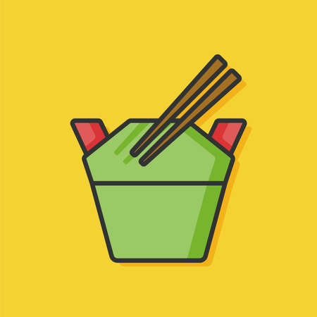 fried noodle: chinese food icon