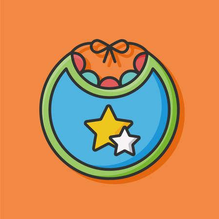 bib: Baby bib icon