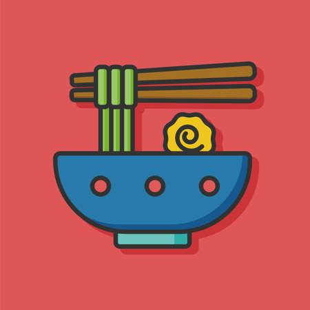 comida japonesa: icono de fideos