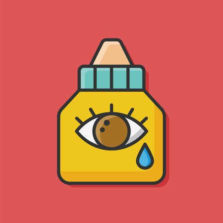 eyedropper: Eye drops icon
