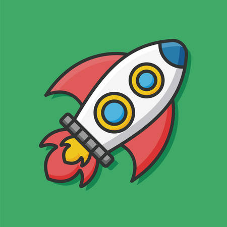 Raumschiff: Spaceship icon Illustration