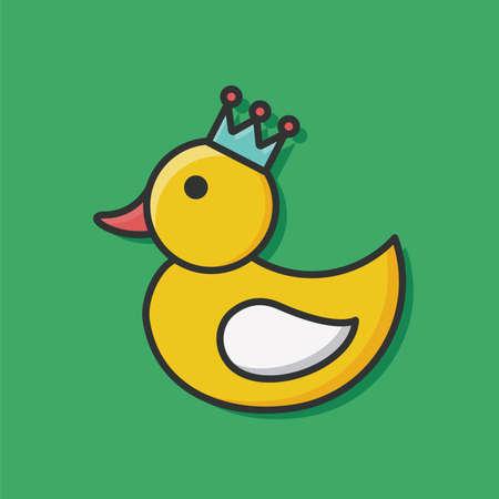 pato caricatura: icono de pato de juguete
