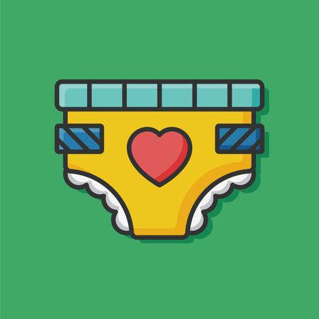 diaper: baby diaper icon