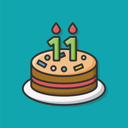 pastel cumpleaños: icono de pastel de cumpleaños