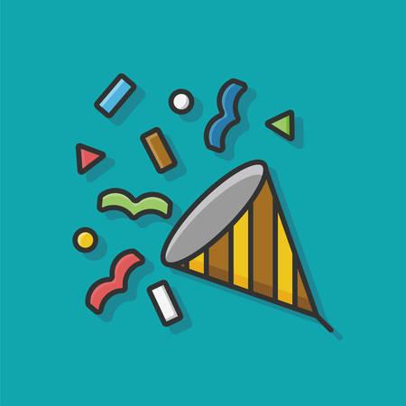 birthday cracker icon