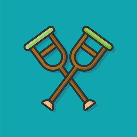 crutch: Crutch icon