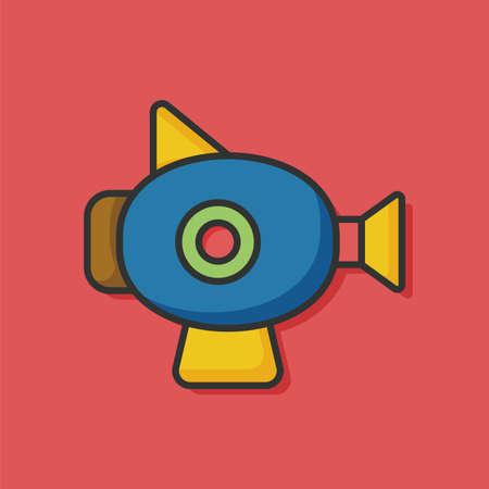 baby toy: baby toy gun icon