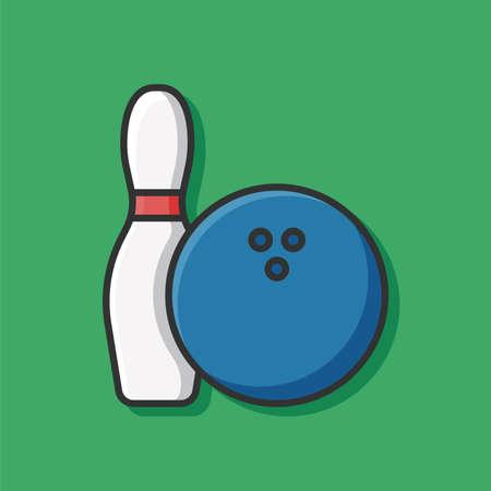 ten pin bowling: bowling icon