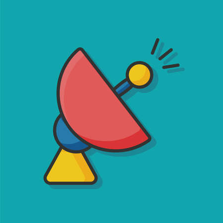 atmosphere: Space Satellite icon Illustration