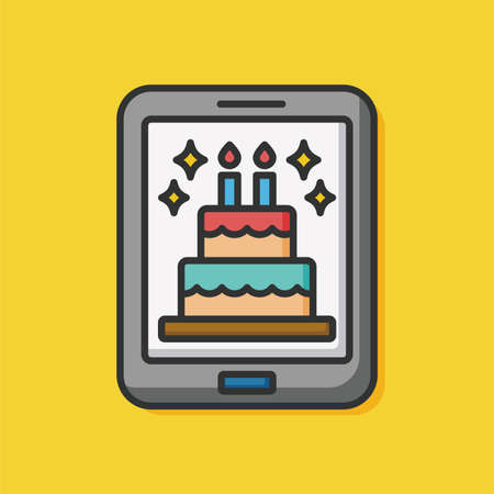ecard: birthday e-card icon Illustration