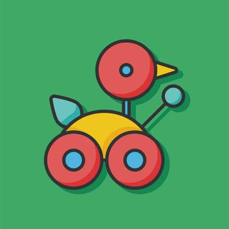 baby toy: baby toy car icon