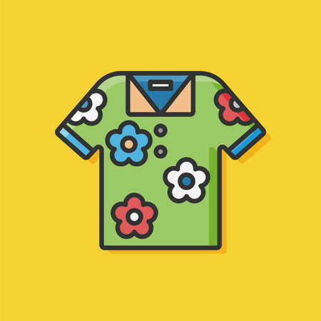 summer clothes: summer clothes icon Illustration