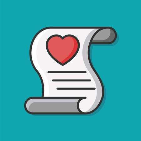 love letter: icono de carta de amor Vectores