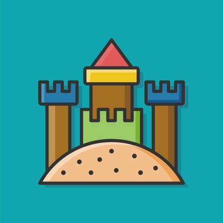 piasek: sand castle icon