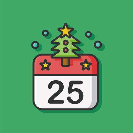 Icona del calendario di Natale Vettoriali