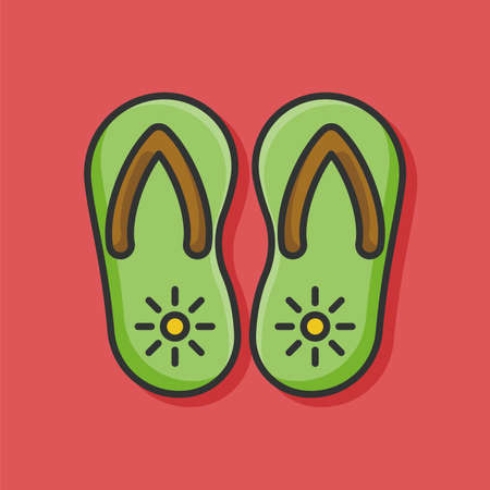 flipflop: Flip-flop icon Illustration