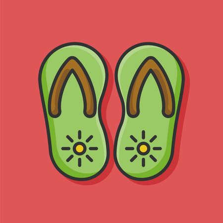 flipflop: Flip-flop icon Illustration
