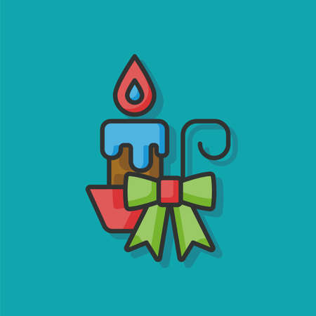 christmas icon: Christmas candle icon Illustration