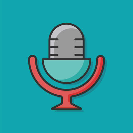 voices: record microphone icon Illustration