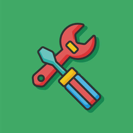 pliers: Pliers and screwdriver icon Illustration