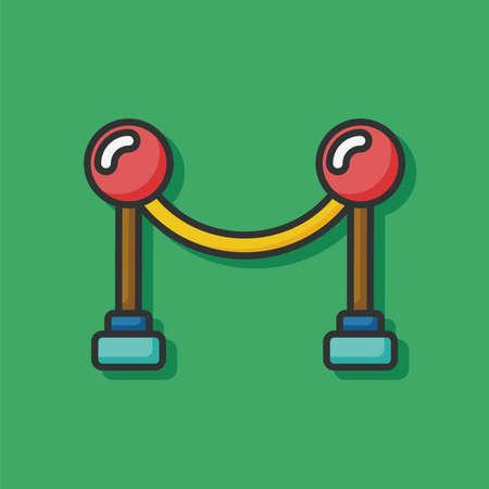 velvet rope: Cinema fence icon Illustration