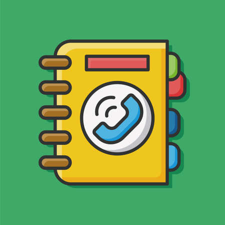 contact book: icono de la agenda de contactos