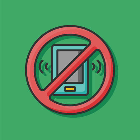 no cell phone sign: no phone icon